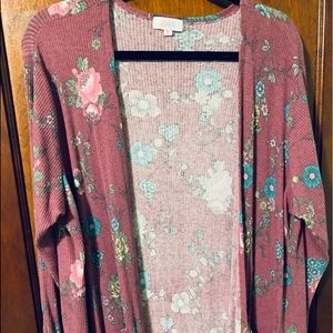 LULAROE XL LIGHTWEIGHT FLORAL SWEATER